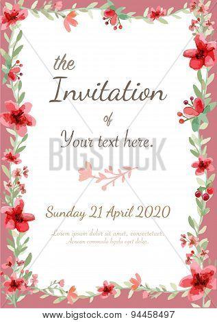 Flower Invitation Card
