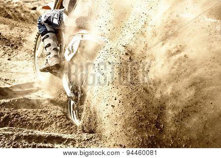 motocross on the sand