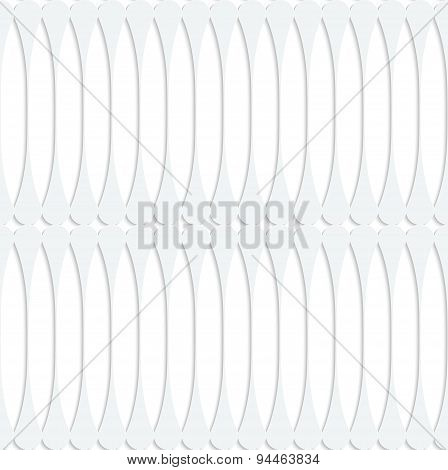 Paper White Fence With Thickening