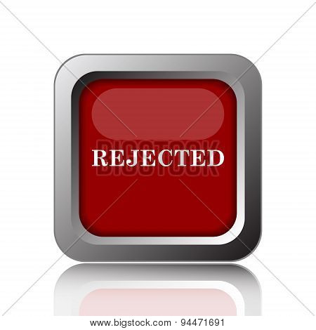 Rejected icon. Internet button on white background poster