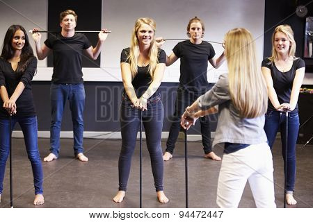 Students Taking Dance Class At Drama College