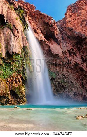 Beautiful blue Havasu Falls, Arizona