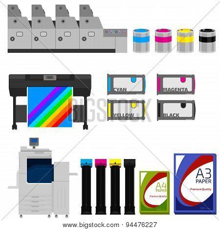 Color print vector set