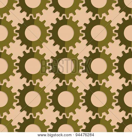 Retro Fold Green Gears