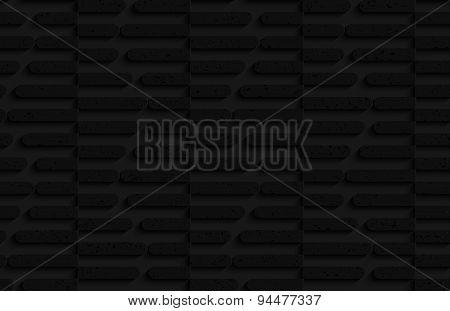 Textured Black Plastic Cut In Half Hexagons