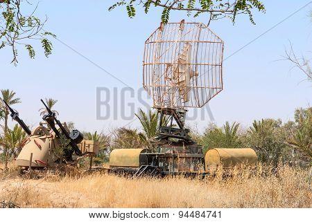 Tcm-20 Anti-aircraft Gun And Military Radar
