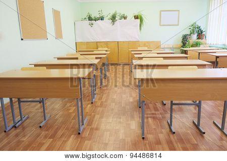 Interior of a class room