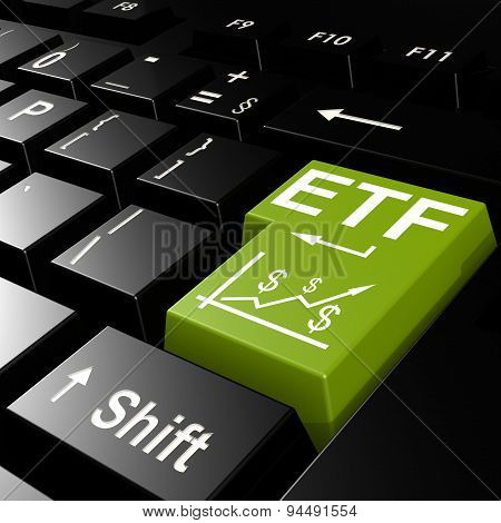Etf Word On The Green Enter Keyboard