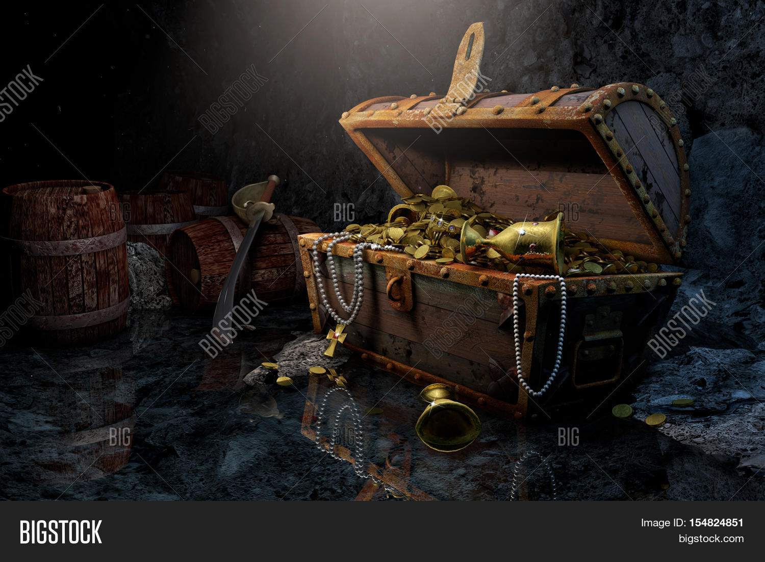 Old Pirate's Chest Image & Photo (Free Trial) | Bigstock