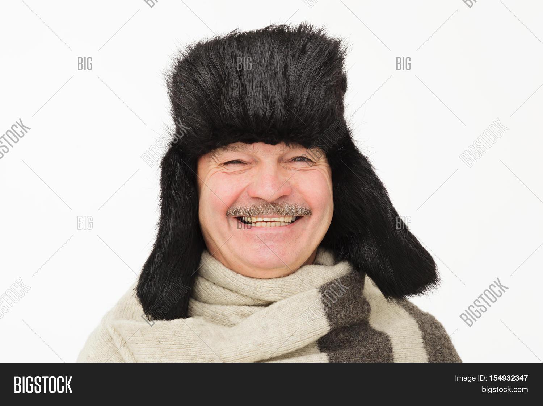 dee4b313cef70 Elderly Man Warm Fur Image   Photo (Free Trial)