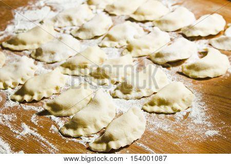 Dumplings traditional Russian Belarussian Ukrainian meal