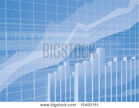 Blue chart vector background.