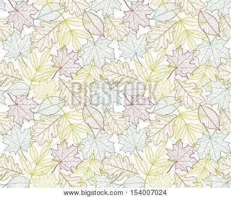 leaf texture vector seamless foliage autumn pattern