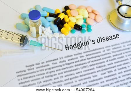 Syringe with drugs for Hodgkin's disease treatment