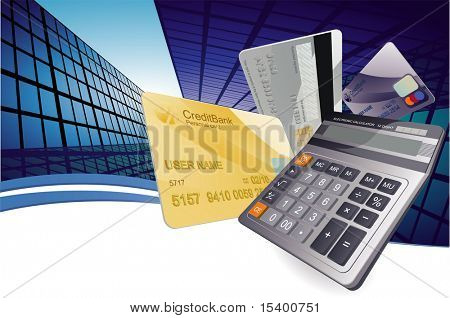 Finance abstract. Vector background