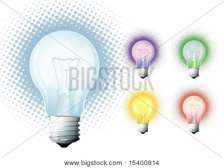 Bulbs. Vector.