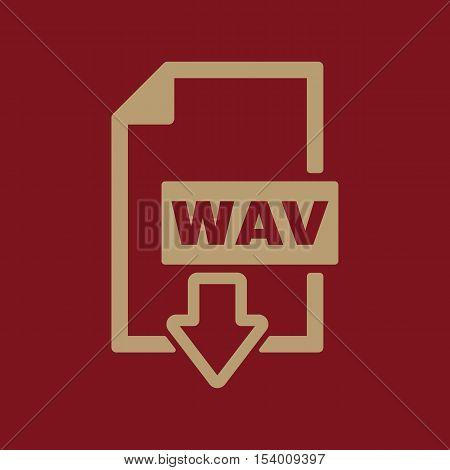 The WAV icon. File audio format symbol. Flat Vector illustration