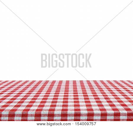 Empty table isolated on white background - use for your photomontage or product display