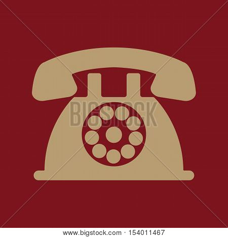 The phone icon. Telephone and support, hotline, helpdesk symbol. Flat Vector illustration