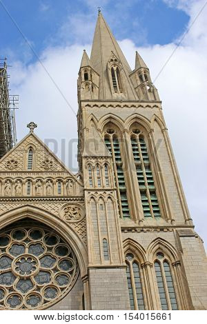tower of the cathedral in Truro, Cornwall