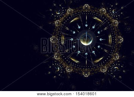 Cosmic clock shows the time remaining before the start of a new period of life New Year