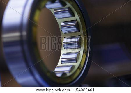 Close up shot of a ball bearing.