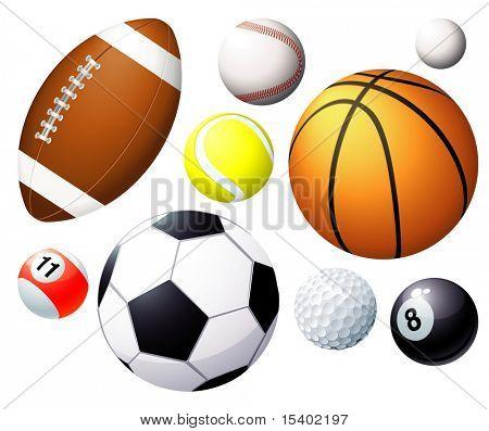 Sport balls. Vector.
