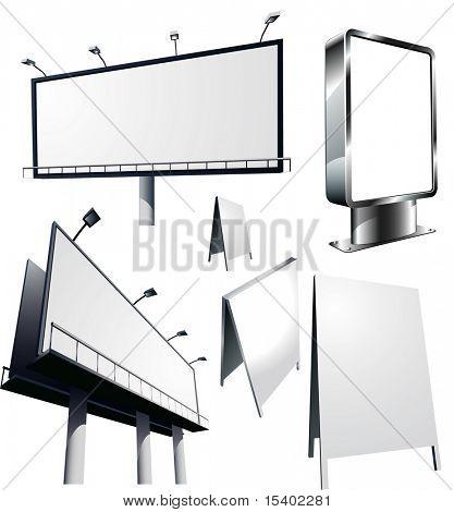 Constructions de publicité extérieure. Vector.