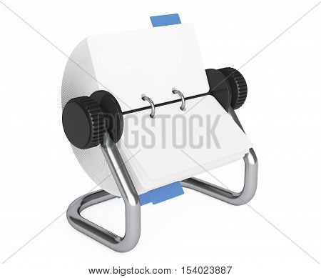 Rotary Desk Card Index on a white background. 3d Rendering