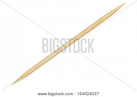 Wooden Toothpick Closeup on a white background. 3d Rendering