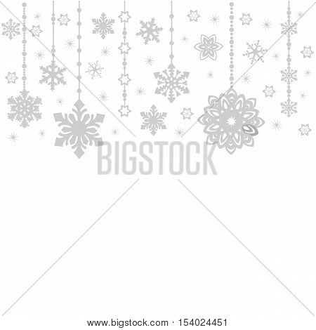 Abstract Merry Christmas Ornaments Design, Christmas Decorations. Seamless Patter. Grey On White. El