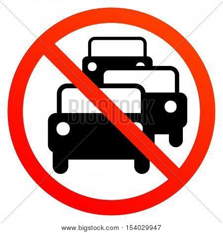 No traffic jam sign or symbol, vector illustration