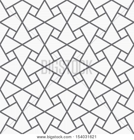 Vector seamless pattern. Modern geometric texture. Opt Art