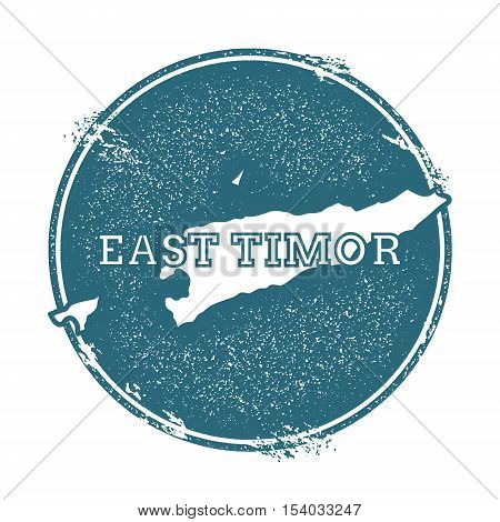 Grunge Rubber Stamp With Name And Map Of Timor-leste, Vector Illustration. Can Be Used As Insignia,