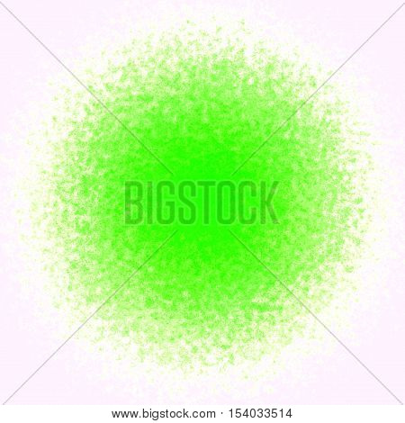 Fresh green ball spot stain splash background