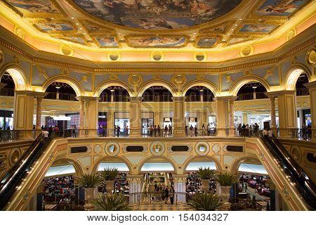 Macao - 29 Oct: The Venetian Macao Resort Hotel In Macao On 29 October 2016