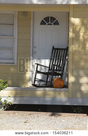 A house is getting ready for Halloween in CharlestonSouth Carolina