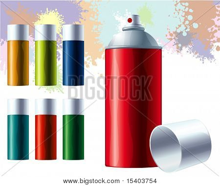Graffiti color spray. Vector.