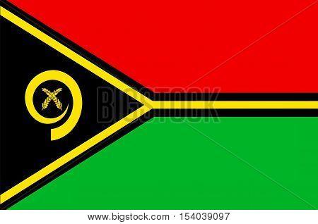 Flag of Vanuatu, Port Vila, Melanesia. illustration