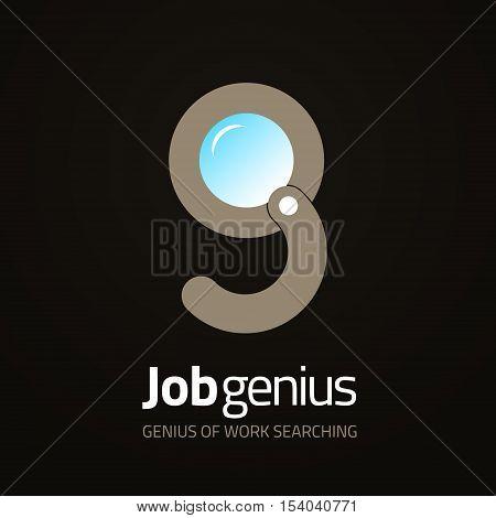 Creative Magnifier lens vector logo design. Loupe Vector sign. Logotype symbols. Logo icon design