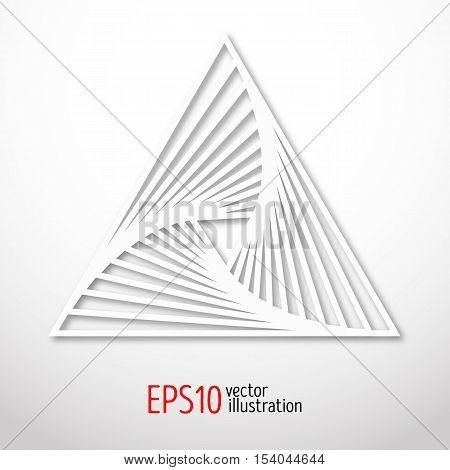 Triangular abstract sacral geometry. Vector art of three-cornered symbol