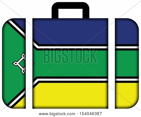 Flag Of Amapa State, Brazil. Suitcase Icon, Travel And Transportation Concept
