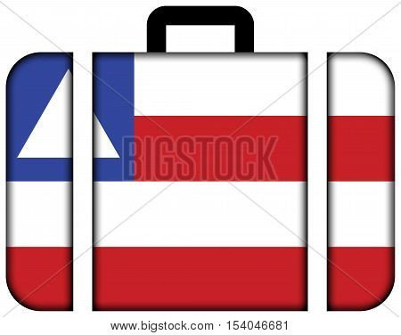Flag Of Bahia State, Brazil. Suitcase Icon, Travel And Transportation Concept