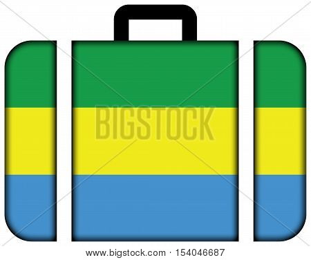Flag Of Bandung, West Java, Indonesia. Suitcase Icon, Travel And Transportation Concept