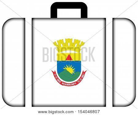 Flag Of Belo Horizonte, Minas Gerais, Brazil. Suitcase Icon, Travel And Transportation Concept