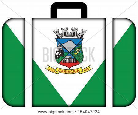 Flag Of Cariacica, Espirito Santo State, Brazil. Suitcase Icon, Travel And Transportation Concept
