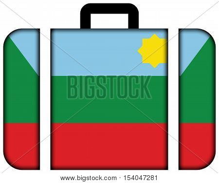 Flag Of Chachapoyas, Peru. Suitcase Icon, Travel And Transportation Concept
