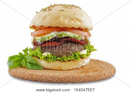 Italian gourmet burger, burger made with local products canaries photographed in Tenerife Spain