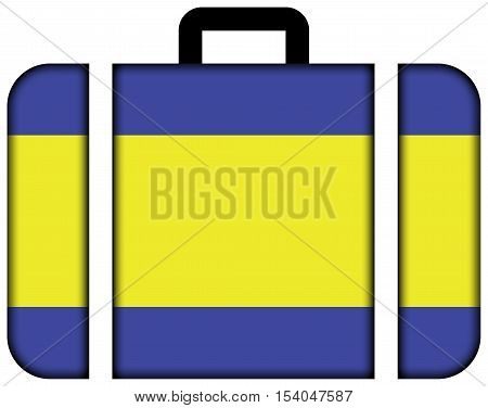 Flag Of Debrecen, Hungary. Suitcase Icon, Travel And Transportation Concept