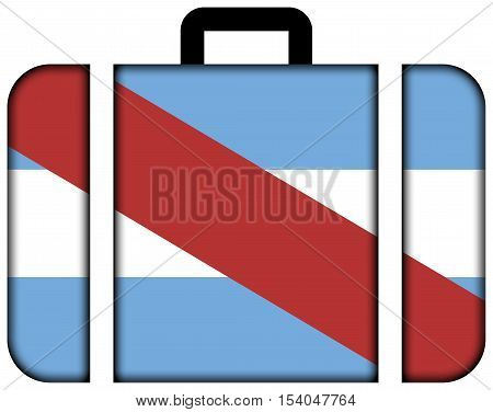 Flag Of Entre Rios Province, Argentina. Suitcase Icon, Travel And Transportation Concept